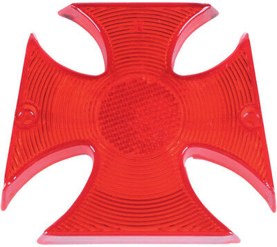 Drag Specialties Replacement Maltese Cross Taillight Lens Red 2010-0337