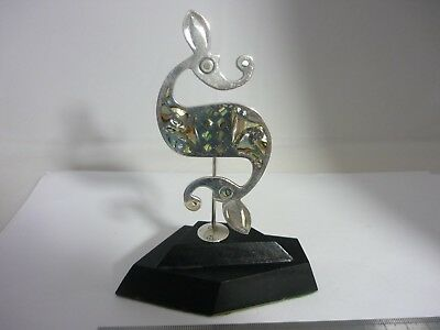 Stunning, Rare Large Unique Vintage Sterling Silver Seahorse Sculpture Statue