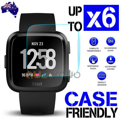 2x/4x/6x Tempered Glass Screen Protector For Fitbit Versa/ Versa Lite