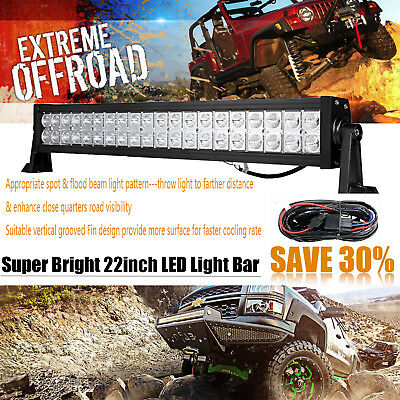22inch 120w LED Light Bar Work Spot Flood Offroad Truck Jeep Driving SUV 4WD 20""