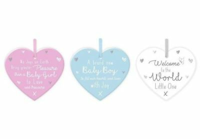 Job lot wholesale baby wall decoration MDF heart plaques x 6 NEW