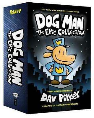 Dog Man 1-3: The Epic Collection by Dav Pilkey Hardcover Book Free Shipping!