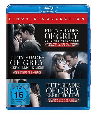 Fifty Shades Of Grey-3 Movie-Collection-Bl -  3 Blu-Ray Neu