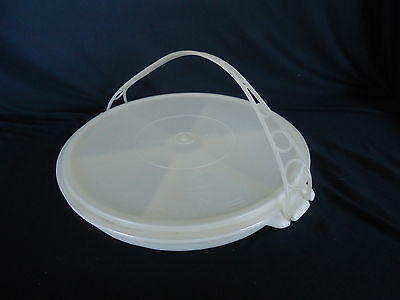 TUPPERWARE Vintage Divided Party Susan with Cariolier Handle and Lid 1970's?
