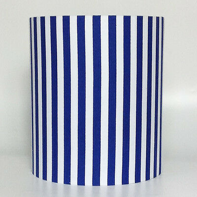 Blue Stripes, Medium Fabric Light Shade
