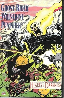 Ghost Rider Wolverine Punisher Hearts of Darkness Comic Book Marvel 1991 MINT