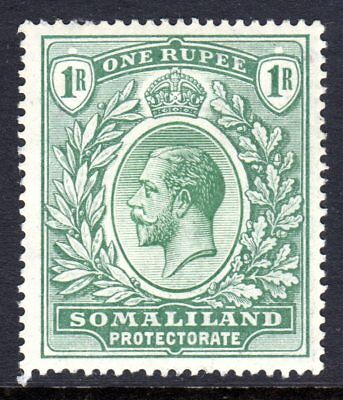Somaliland Protectorate KGV  1912-19 (Wmk Multi CA) 1r  Green SG69 LM/Mint