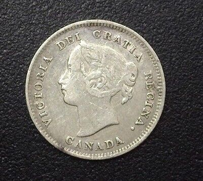 Canada 1897 Silver 5 Cents   Extremely Fine