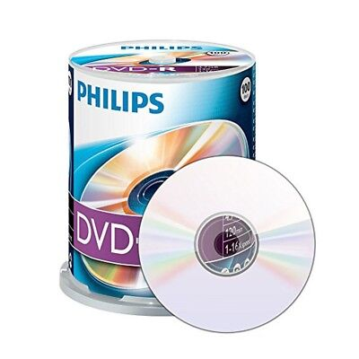 Philips DVD-R Rohlinge 100er 4.7 GB 16x High Speed Aufnahme, 100er Spindel