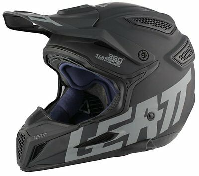 Leatt GPX 5.5 Ghost Lightweight Composite Full Face MX Helmet Satin Black MEDIUM