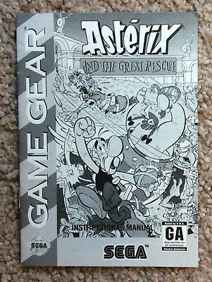 Please Read Only Manual for Sega Game Gear Asterix and the Great Rescue