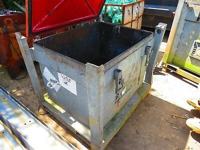 Large industrial galvanised stackable waste storage container 120x100x103cm