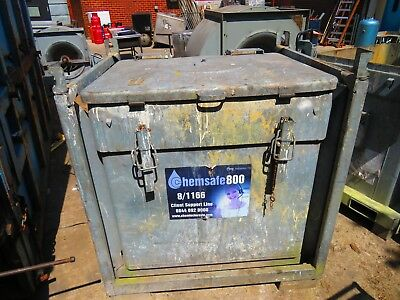 Large industrial galvanised stackable waste storage container 118x100x131cm
