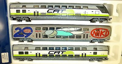 ÖBB CAT Niki Doppelstock 3tlg Set HERIS 13123 H0 1:87 City Airport Train KH12 µ*