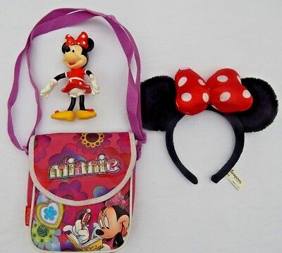 Minnie Mouse Shoulder Bag, Figure And Ears