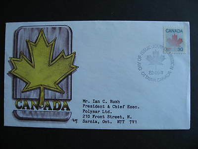 Canada Marg cachet FDC first day cover, 30c maple leaf definitive Sc 923