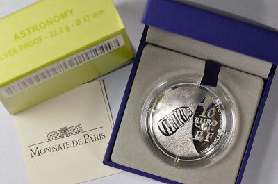 2009 10 Euro France International Year Of Astronomy Silver Proof Domed Coin Coa!