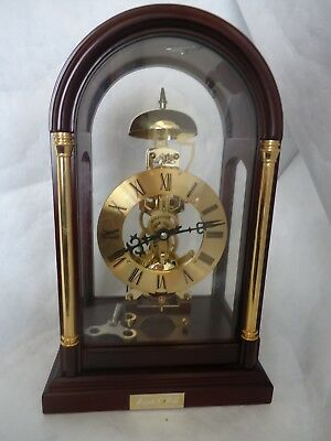 Mappin & Webb 4 Glass Skeleton Clock. Spares Or Repair