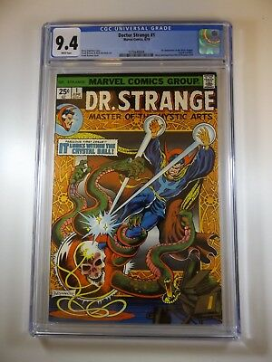 Dr. Strange #1 Brunner Art CGC Certified 9.4 Gorgeous Book!! White Pages!!