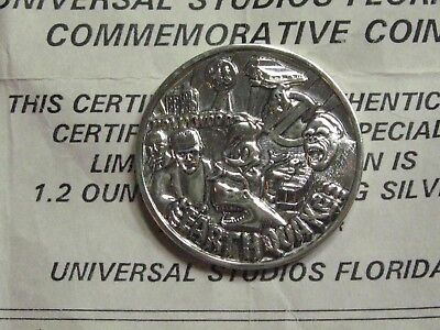 Woody Woodpecker Jaws Frankenstein King Kong Universal Ghostbusters Silver Coin