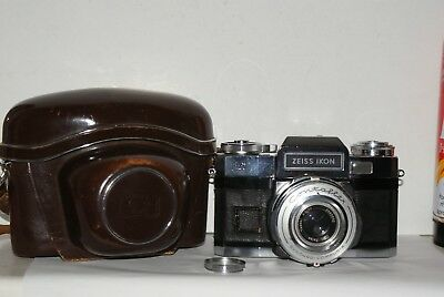 Zeiss Ikon Contaflex S With Tessar 50mm F2.8 Lens & Case,For Repairs/Spares