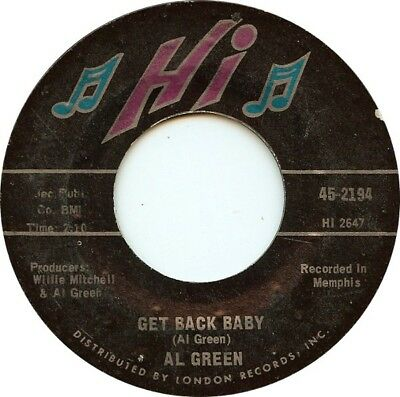 Al Green Tired Of Being Alone / Get Back Baby Vinyl Single 7inch Hi records