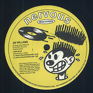 Jay Williams Look Me Up Vinyl Single 12inch Nervous Records