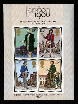 GREAT BRITAIN -1979- LONDON 1980 - INT. Stamp Exhibition - MNH Sheet - Sc. #874a