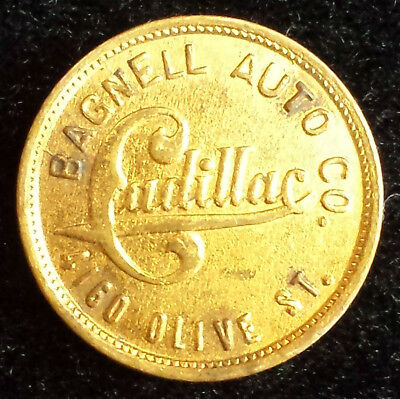 Bagnell Auto Cadillac Dealership 1911 St. Louis MO County Fair Advertising Token