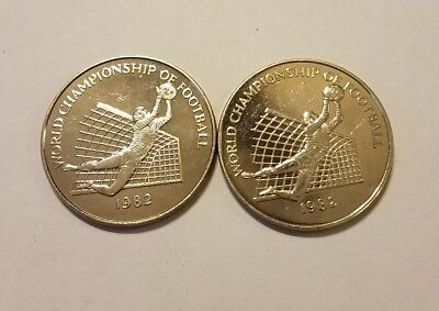 Jamaica Dollar, 1982 Proof/Like , World Championship Football (Soccer)