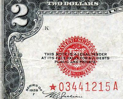 HGR FRIDAY 1928F $2 RED Seal ***Rare STAR*** AWESOME GRADE