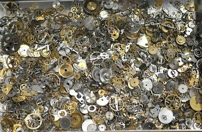 30 grams Vintage Steampunk Watch Gears Wheels Cogs Craft Parts Art Deco Altered