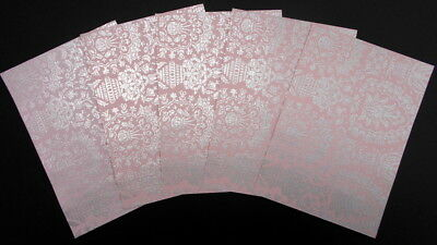 Cristina Re Luxury Lustre Paper  x 5  *EMPRESS BLUSH* 15 x 10.5cm