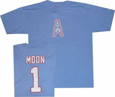 81725625d Houston Oilers Warren Moon Reebok Throwback Pro Style Oversized T Shirt