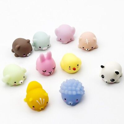 Cute Mochi Animal Charms Squishy Kids Adults Stress Reducer Decompression Toys