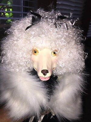 DRAG QUEEN POODLE DOG Statue Prop Display High Heels Lipstick UNIQUE Large Doll