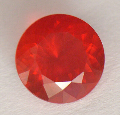 2.46Ct Magnificent Blood Orangey Red Portuguese Round Cut Mexican Fire Opal