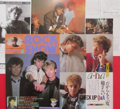 A-ha Morten Harket Paul Magne 1986 CLIPPING JAPAN MAGAZINE CUTTING K3 U13 8PAGE