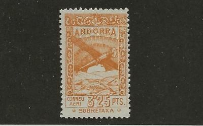 Andorra Unlisted Air Mail Mlh Stamp
