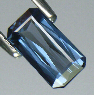 Vvs1 Clarity Limited Edition Blue Color Elegant Emerald Cut Sri Lankan Spinel