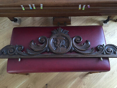 17051 Antique French Carved Wood Architectural  Pediment From Brittany