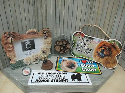 Red Chow Chow - Frame, Signs, Key Chains, Magnet, Sun Catcher, Bumper Sticker