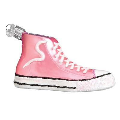 Pink High Top Sneaker Old World Christmas Glass Converse Type Ornament Nwt 32315