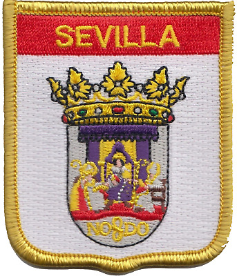 Spain Sevilla City Coat of Arms Shield Embroidered Patch Badge