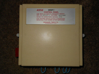 Asco Control Panel Group 7 480V 60Hz Used