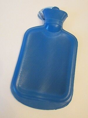NEW Rubber HOT WATER BOTTLE Bag Warm, Hot, or Cold Therapy Blue
