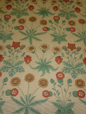 William Morris Curtain Fabric Design  Daisy   4 Metres Dk4323