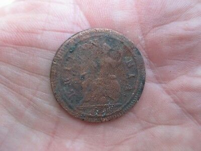Us Dug In Civil War Camp In Maryland - Britania 1728 Coin Relic