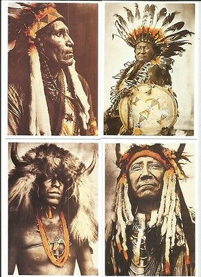 Lot 20 Cartes Indiens Postales  Geronimo Sitting Bull Tipi Cheyennes Crow Sioux