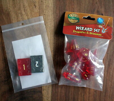 Kickstarter Poly Hero Dice – Dragonfire & Brimstone Wizard Set, D&D, Pathfinder!